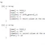Definition der zu prüfenden Felder asdw_check_table_columns