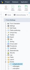 Event Application Init der Scriptcase Applikationen