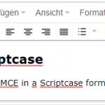 tinyMCE in Scriptcase einbinden mit eigenen Parametern