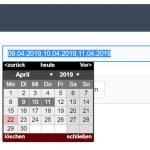 Beispiel des erweiterten Datepickers für Scriptcase