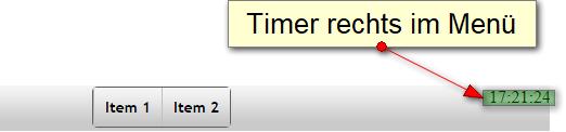 Timer-Anzeige rechts im Menü